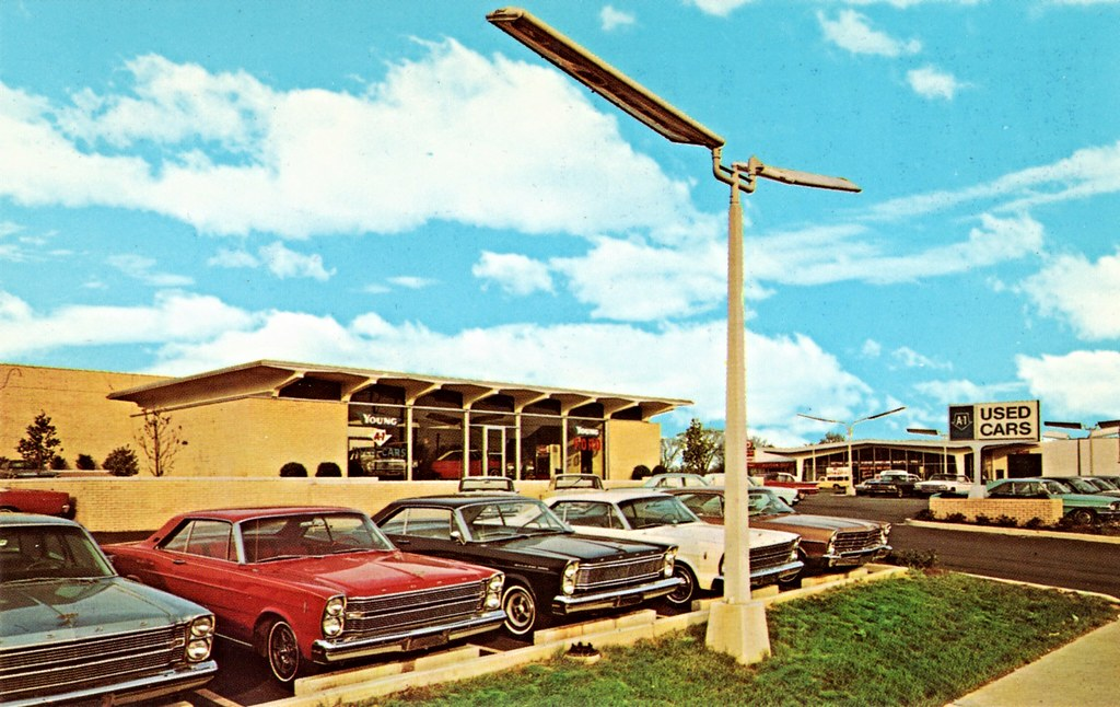 ford charlotte nc north carolina dealership showroom 1967 postcard. Cars Review. Best American Auto & Cars Review