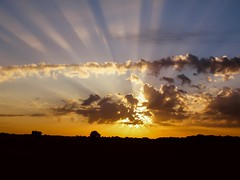 A new day awaits..... Sunrise (Alas Anonimo) Tags: morning light summer sky panorama sun nature silhouette horizontal fog clouds sunrise dark landscape dawn outdoor horizon panoramic dust fairweather
