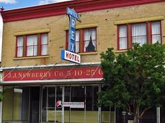 Rock Springs, Wyoming (Jasperdo) Tags: building sign architecture store roadtrip departmentstore wyoming rocksprings rexhotel newberrys jjnewberry fadingamerica 510centstore