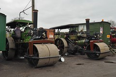 Aveling Rollers at the GCR (Ben Matthews1992) Tags: show road old station festival vintage easter living compound leicestershire bs rally great transport traction central engine railway historic steam single cylinder roller restored vehicle preserved caravan van 1919 porter woodhouse rolling 1925 rosetta preservation quorn haulage 2015 gcr aveling 10ton 9024 ftype goodsyard nt2019 6nhp 11240 5nhp ro641 stortfordroll