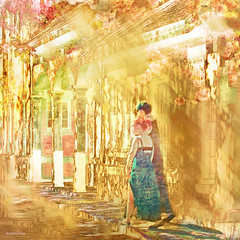 -- women in spring -- (xandram) Tags: buildings women pastel manipulation photosho texturesmyown