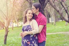 This kind of kisses (renkata23) Tags: portrait love spring nikon hug kiss couple sunny pregnant greengrass
