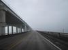 Foggy Copano (bunnixie) Tags: city family sea beautiful childhood fog by dark mexico bay coast town texas sad gulf south memories bridges spooky nostalgia rockport meloncholy spoopy compano