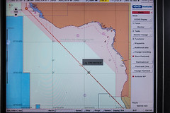 HRA (High Risk Area) in the waters of West Africa (jbdodane) Tags: sea danger ship map pirates vessel cargo maritime radar seaguide macsday08