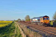gb railfreight 66709 'sorrento' passing langham jct with 6L15 toton north yard to whitemoor nds (I.Wright Photography over 2 million views thanks) Tags: rail company gb shipping freight rf msc langham class66 jct toton mediterean whitemoor gbrf 66709 mediteraan gbrail 6l15 europorte2
