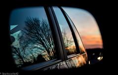 Reflet (Deathscythe42) Tags: sunset nature canon landscape retro reflet reflect paysage coucherdesoleil 600d efs18135is