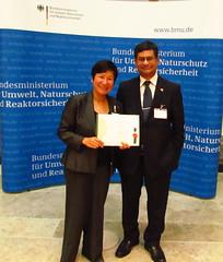 Anu with the Nepal Ambassador 2012