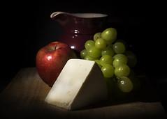 Week 20: Old Master (May 14 - 20) (Brett T) Tags: life shadow red food green apple cheese still flash grapes jug oldmaster