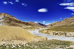 Leh Laddakh...........India. (Rambonp love's all creatures of Universe.) Tags: blue trees light wallpaper sky brown sun india lake mountains green nature clouds canon landscape grey highway paradise day rivers karakoram leh jk sangam silkroute himalyas laddakh