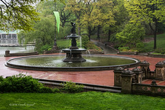 A Little Rain Keeps The Crowds Away (CVerwaal) Tags: nyc centralpark bethesdafountain bethesdaterrace olympusem5 lumixgvario1235mmf28