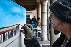 Artista di Strada (Stefano Biancardi) Tags: street people streetart artist quadro persone mantova primopiano passione pittore