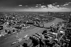 20160504-londonshard-23 (Steve J Cottis) Tags: blackandwhite london towerbridge hmsbelfast docklands toweroflondon countyhall riverthemes theshard tokina1116 nikond5300