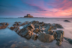 'A Sermon At Sea' - Porth Cwyfan, Anglesey (Kristofer Williams) Tags: sunset sea seascape beach church water landscape island coast rocks outdoor tidal causeway anglesey llangwyfan aberffraw stcwyfans churchinthesea porthcwyfan eglwysbachymor