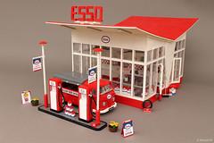 Esso Gas Station designed by Dutch architect Dudok (1953)