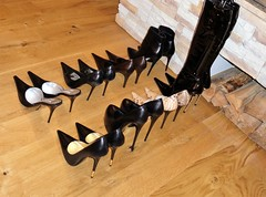 Rosina's heel collection for a few vacation days in a nice hotel (Rosina's Heels) Tags: high pumps boots heel stiletto