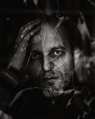 Et in Arcadia ego (giovdim) Tags: portrait selfportrait face self leaf hand autoportrait doubleexposure giovis giovdim