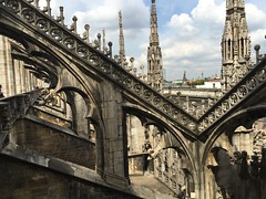 Duomo, Milan - Terrace View (Explored) (Sorin Popovich) Tags: travel italy architecture europe cathedral terrace landmark architectural duomo roofscape lombardy gothicarchitecture traveldestinations milancathedral dommdemilan