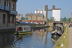 Ripples and reflections (Halliwell_Michael ## Offline mostlyl ##) Tags: urban reflection water reflections canals ripples towns barge towpath westyorkshire barges brighouse 2016 canalbasin millroyd nikond40x calderhebblecanal sugdensmill reflectionslovers brighouse1940sweekend brighouse1940swe