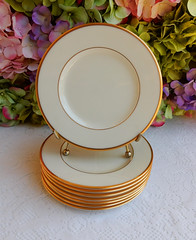 Vintage Lenox Porcelain China Plates Mansfield ~ Cream ~ Gold (Donna's Collectables) Tags: china vintage gold cream plates porcelain ~ lenox mansfield