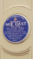 Photo of Mir Dast plaque in Brighton
