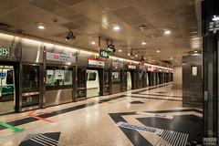 Singapore Metro (davidgevert) Tags: subway singapore publictransportation metro citylife d750 subwaystation modernarchitecture marinabay travelphotography nikon2470mmf28 davidgevert gevertphotography nikond750