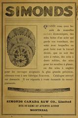 Simonds Canada Saw Co. (vieillespubs) Tags: montral 1922