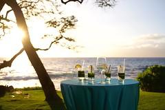 Happy hour (lucyd*) Tags: sunset beach hawaii glasses maui cocktails wailea makena cocktailreception turtlepointestate finnestate
