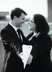 Caleb & Kate (Sassenach5) Tags: blackandwhite bw love canon blackwhite couple paperairplane paperman enegagement canonef80200mmf28l