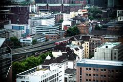 Straenschluchten (StellaMarisHH) Tags: urban panorama canon deutschland europa hamburg zug places sbahn verkehr lightroom nahverkehr hochhuser sigma18200 60d canoneos60d eos60d
