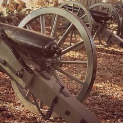 Gettysburg NMP ~ Confederate Ave cannons - HSS! (karma (Karen)) Tags: gettysburgnmp pennsylvania usparks militarypark battlefield civilwar cannons picmonkey dusk yestercolor squared sliderssunday hss