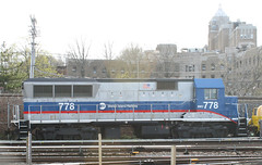 MTA. Staten Island Railway, BMEX 778 (BL20GH), SIRT 778, (BL20GH)  in Tompkinsville, Staten Island, New York, USA. April, 2015 (Tom Turner - SeaTeamImages / AirTeamImages) Tags: nyc railroad usa newyork yard train hospital unitedstates transport engine rail trains transportation mta locomotive statenisland bigapple railfan spotting 778 stapleton sirt tomturner statenislandrailway bmex bayleyseton barelybreathing bl20gh tomplinsville sirt778 bmex778