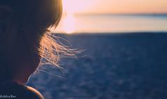 Sunset (adriedeets) Tags: sunset beach hair golden glow eyelashes profile bangs shoulder wispy domincanrepublic