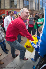 Insert Caption Here :) (Grandaddy Flash) Tags: street boy lego glasgow candid politics buchananstreet leader boxes labourparty generalelection campaining jimmurphy grandaddyflash