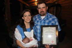 Jimmy & Lydia McAlister - state winners in Excellence in Ag competition