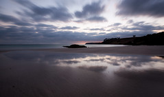 all the things she said (keith midson) Tags: ocean longexposure reflection beach water clouds sunrise shoreline shore tasmania boatharbour