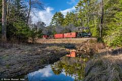 Finally, a sun-lit brook shot....well, sort of (kdmadore) Tags: railroad train maine steam wwf narrowgauge steamlocomotive wiscasset alna 2foot maine2foot wwf9