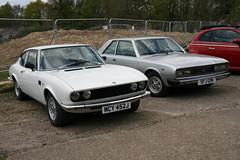 Fiat Coupés of the 1970s (davocano) Tags: brooklands autoitalia autoitalia2016 mcy452j sfj121n