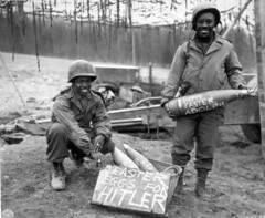 Technical Sergeant William E. Thomas and Private First Class Joseph Jackson prepare a gift of special Easter Eggs for Adolph Hitler and the German Army. 1945 [1368x1121] #HistoryPorn #history #retro http://ift.tt/1qErKey (Histolines) Tags: history private joseph army for thomas hitler first william jackson class retro special german gift e technical timeline adolph 1945 prepare sergeant easter vinatage eggs historyporn histolines 1368x1121 httpifttt1qerkey
