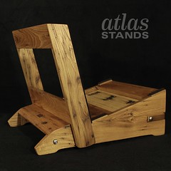 IMG_1149_cropped_logo (Atlas Stands) Tags: stand guitar handmade fine amp gear american boutique atlas chestnut custom woodworking folding hardwood