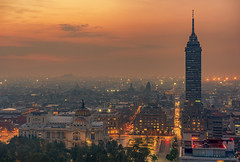 Goodmorning Mexico (urbanexpl0rer) Tags: morning sunrise mexico twilight mexicocity palaciodebellasartes torrelatinoamricana