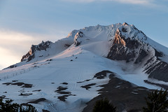 Alpenglow on Hood (kerns.nathaniel) Tags: mountain glacier climbing cascades mountaineering shasta hood