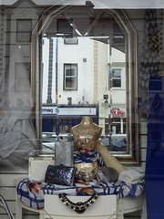 Mirror and reflection (seikinsou) Tags: ireland reflection window shop lady mirror spring nenagh