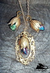 """Pendant and Earrings """"Swallow's Nest"""" gold tulip Steampunk, Gothic, Victorian, Vintage style jewelry (fenixdrag) Tags: vintage necklace handmade pendant naturalstone filigree handmadejewelry vintagejewelry vintagependant victorianjewelry gothicjewelry handmadependant earringshandmade creativeearrings steampunkjewelry victorianearrings gothicearrings steampunkpendant filigreependant victorianpendant gothicpendant earringsfiligree earringssteampunk"""