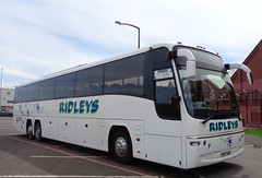 SV07ACZ Ridleys in Blackpool (j.a.sanderson) Tags: new travel volvo coach first april registered leamington bluebird panther spa blackpool fn coaches 2007 ridleys plaxton 54015 b12bt sv07acz