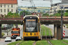 Bombardier NGTD12DD #2821 DVB Dresden Drezno (3x105Na) Tags: germany deutschland dresden tram sachsen strassenbahn bombardier tramwaj dvb niemcy 2821 drezno saksonia ngtd12dd