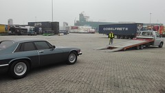 Some of the first yards on Dutch soil... (Pim Stouten) Tags: auto haven car port rotterdam restore vehicle jag restoration xjs jaguar gt hafen 53 kar seaport coup transporter v12 restauratie wagen pkw botlek vhicule autoambulance mcchina