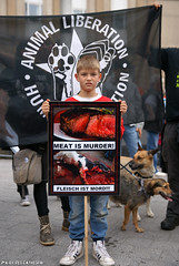 Meat is murder (Red Cathedral uses albums) Tags: brussels vegan sony streetphotography animalrights bruxelles alf vegetarian vegetarians alpha gaia brussel veganism carnivore animaltesting herbivore meatismurder | redcathedral omnivore animalliberationfront a850 eventcoverage sonyalpha meatconsumption biteback aztektv veganisme marchepourlafermeturedesabattoirs marsvoordesluitingvanslachthuizen