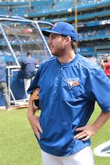 Joe Biagini (peterkelly) Tags: blue toronto ontario canada field hat digital canon baseball skydome bluejays northamerica pitcher battingpractice mlb 6d torontobluejays rogerscentre joebiagini