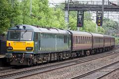 92010.Atherstone.15.6.16 (deltic17) Tags: train railway locomotive caledonian ecs atherstone class92 92010 92014