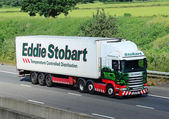 PO65 VDA. (curly42) Tags: truck nikki transport lorry artic m5 roadtransport eddiestobart roadhaulage scaniar450 po65vda